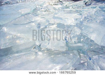 Ice Of Lake Baikal, Olkhon