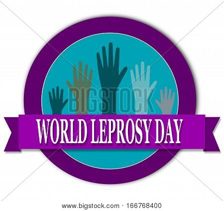 World Leprosy day banner round  with hands
