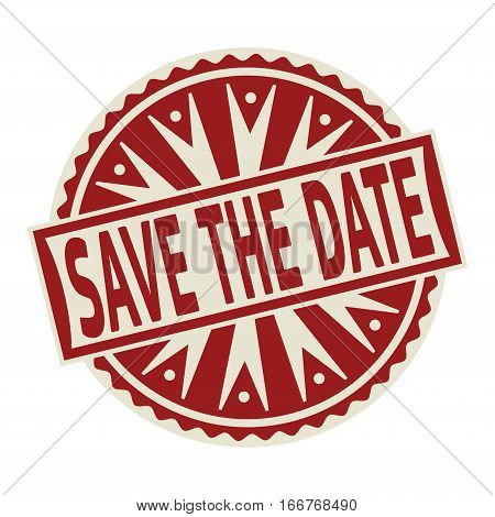 Stamp label or tag business concept with the text Save The Date vector illustration.