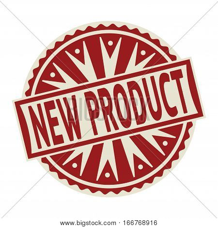 Stamp label or tag business concept with the text New Product vector illustration.