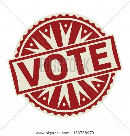 Stamp label or tag business concept with the text Vote vector illustration.