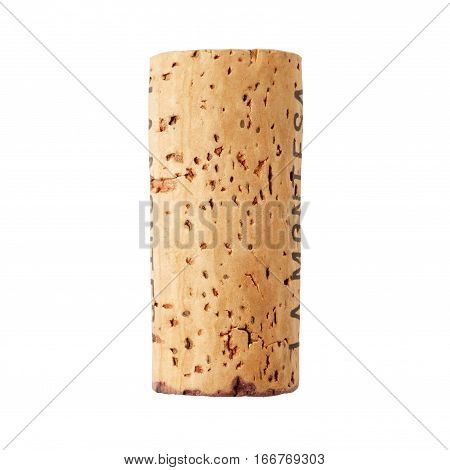 Wine cork isolated on the white background