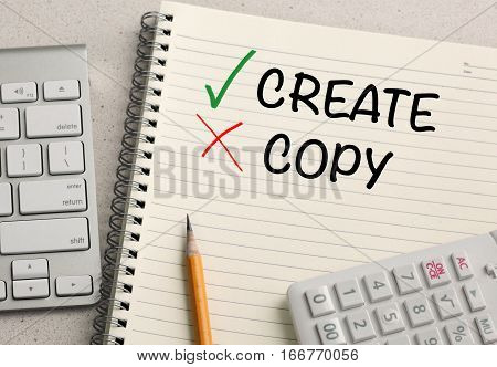 concept of create, as opposed to copy
