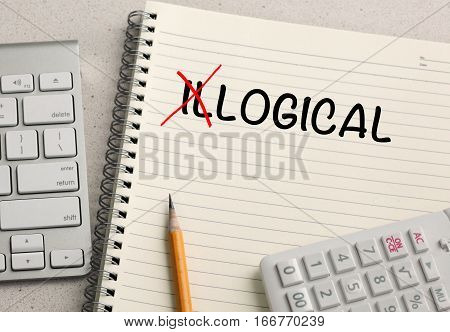 change of illogical to logical, concept of logic