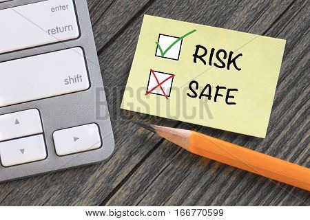 concept of taking risk instead of being safe