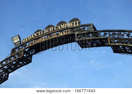 Sign Of Campbell Street With Blue Sky