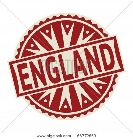 Stamp label or tag business concept with the text England vector illustration.