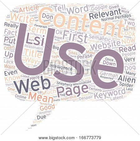 How To Use Relevance In Your Web Content text background wordcloud concept