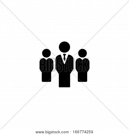 Vector group of people business icon. Flat design on a white background