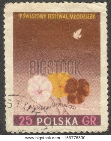 MOSCOW RUSSIA - CIRCA DECEMBER 2016: a post stamp printed in POLAND the series