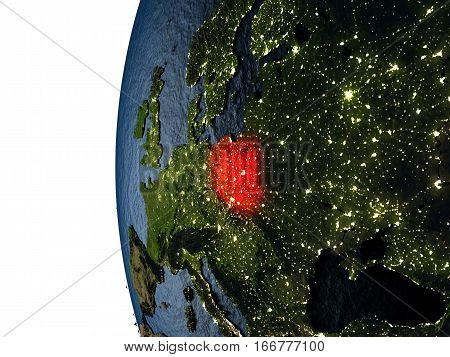 Sunset Over Poland From Space