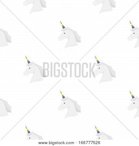 Unicorn icon cartoon. pattern gay icon from the big minority, homosexual cartoon. - stock vector