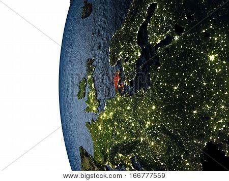 Sunset Over Denmark From Space