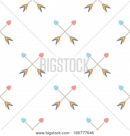 Arrow icon cartoon. pattern gay icon from the big minority, homosexual cartoon. - stock vector