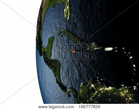 Sunset Over Jamaica From Space