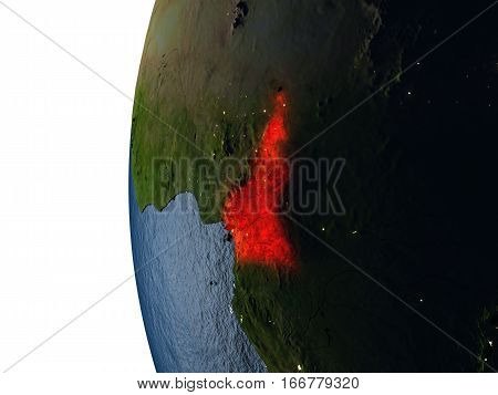 Sunset Over Cameroon From Space