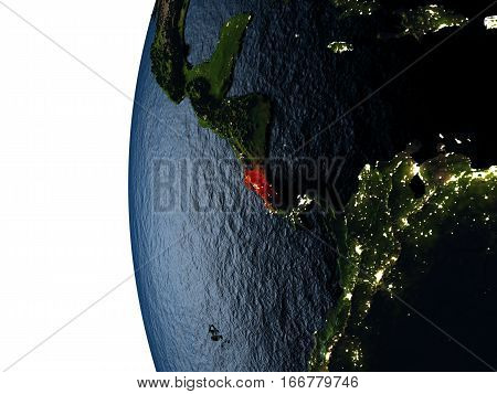Sunset Over Costa Rica From Space