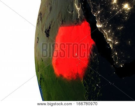 Sunset Over Sudan From Space