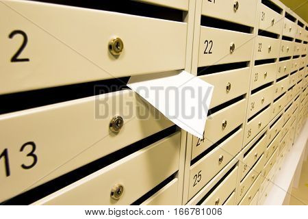 Mailboxes and account for the payment of rent