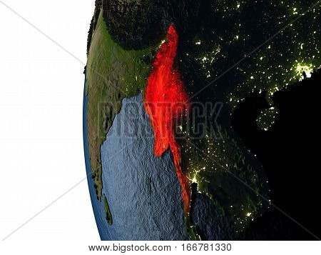 Sunset Over Myanmar From Space