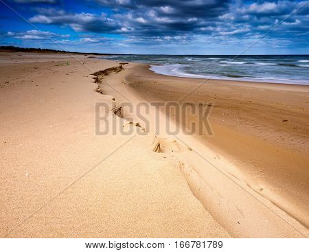 Beautiful Baltic Beach In Springtime