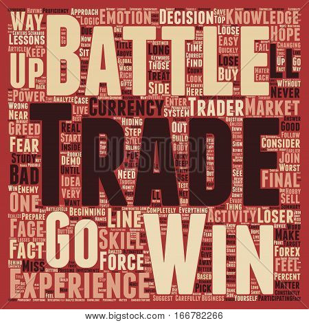 How to Win the Forex Battle text background wordcloud concept