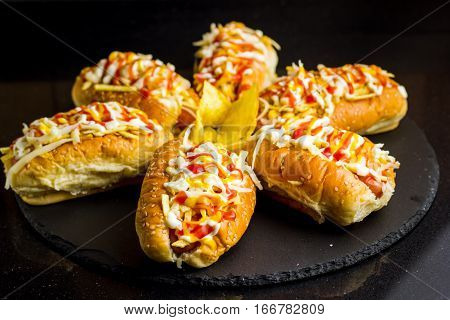 Hot Dogs In Venezuelan Style With Potatoes