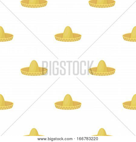 Sombrero icon in cartoon style isolated on white background. Hats symbol vector illustration.