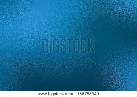 Blue metallic foil paper texture decor background. Decor for artwork