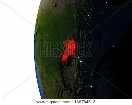 Sunset Over Uganda From Space