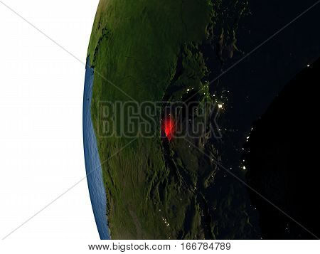 Sunset Over Burundi From Space