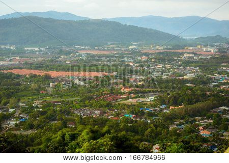 Landscape at Kao Khad Viewpoint of Phuket city Phuket province Thailand