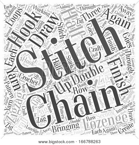 How to Zigzag Lozenge Stitch in Craft Word Cloud Concept