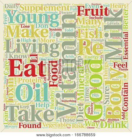 How Toxins in Our Diet Can Affect Our Health text background wordcloud concept