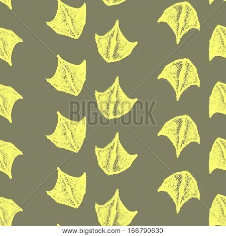 seamless pattern made from ducks trails. Vector trails of duck. Vector paw print. Animal paw. Duck paw print