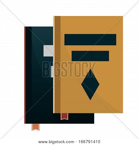 Book or album Vector Illustration. Isolated on white.