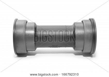 a bicycle bottom bracket cartridge isolated on white background