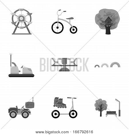 Play garden set icons in monochrome style. Big collection of play garden vector symbol stock