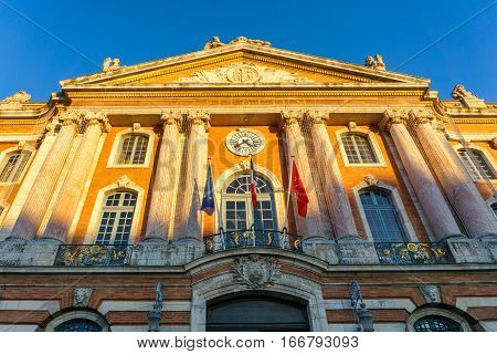 Capitole de Toulouse France, Unrban landmark in shunshine day