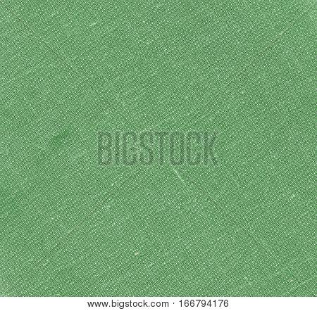 Green Color Cotton Cloth Texture.