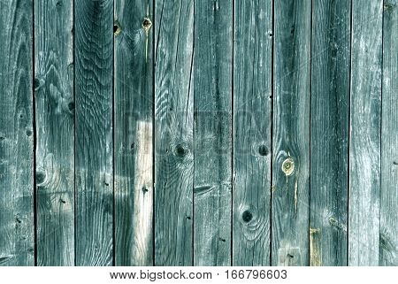 Weathered Cyan Toned Wood Wall Texture.