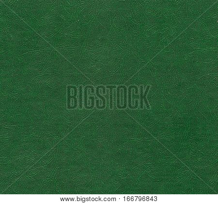 Green Color Leather Surface.