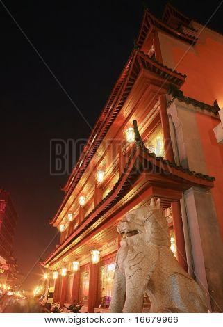 temple in changsha,hunan province,china