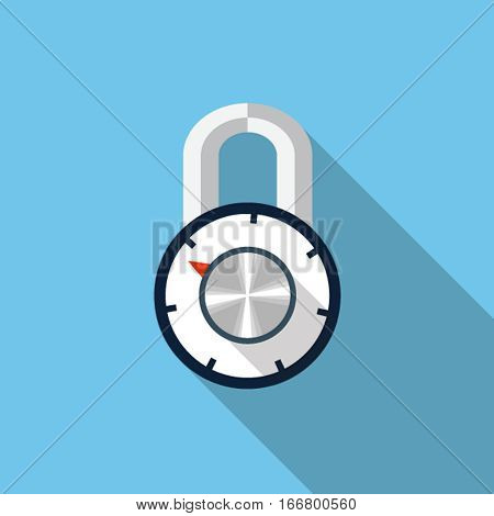 Vector combination padlock icon, design element for mobile and web applications, eps 10