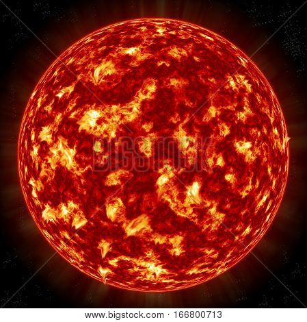Sun Planet high quality and high resolution computer graph