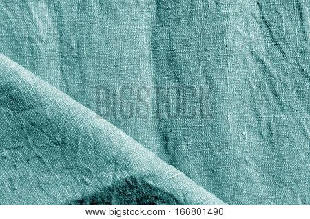 Abstract Cyan Color Cotton Texture