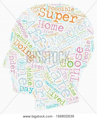 How You Can Become a Online Super Affiliate text background wordcloud concept