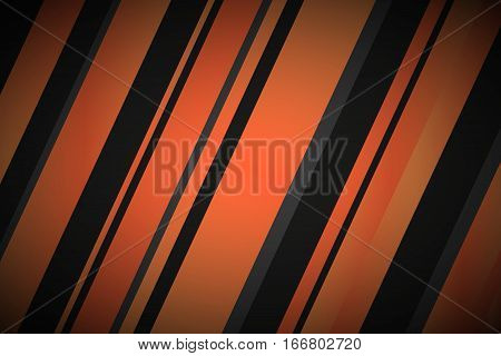 Abstract background with black and orange lines