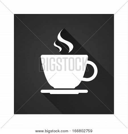 Flat icon of simple coffee cup vector illustration