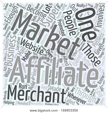 How You Can Become a Super Affiliate Word Cloud Concept